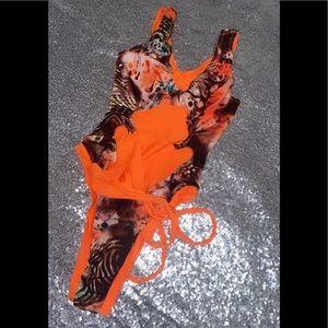 Orange one piece